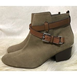 Coach Pauline Leather Ankle Boots
